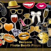 Versace Designer Party Photo Booth Props